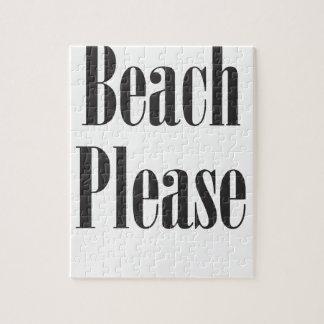 Beach Please Jigsaw Puzzles