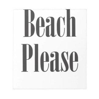 Beach Please Note Pads