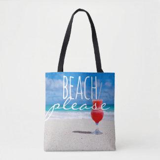 Beach Please Ocean Daiquiri Summer Bag Tote