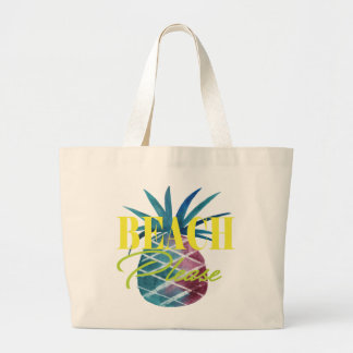 BEACH PLEASE PINEAPPLE LARGE TOTE BAG