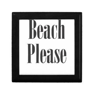 Beach Please Small Square Gift Box