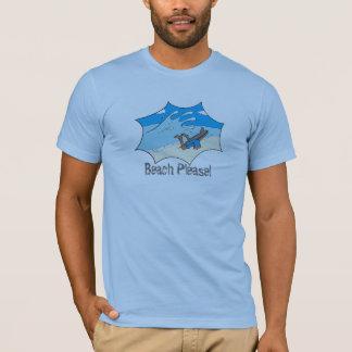 Beach Please! Surfer Wipeout? T-Shirt
