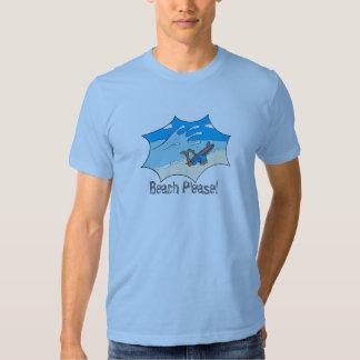 Beach Please! Surfer Wipeout? Tee Shirt