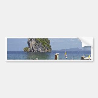 beach  Poda island Thailand long-tail peace boats Bumper Sticker