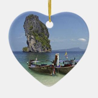 beach  Poda island Thailand long-tail peace boats Christmas Ornament