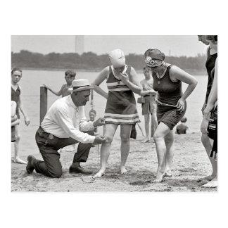 Beach Police, 1922. Vintage Photo Postcard