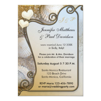 Beach Post Wedding Party Invitation