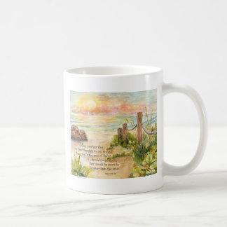 Beach Posts Sunrise-Psalm 139 8x10 Coffee Mug
