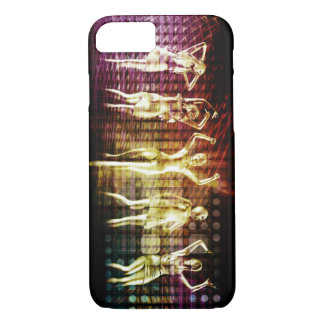 Beach Rave Party with Disco Dancing Girls iPhone 7 Case