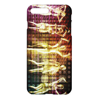 Beach Rave Party with Disco Dancing Girls iPhone 7 Plus Case