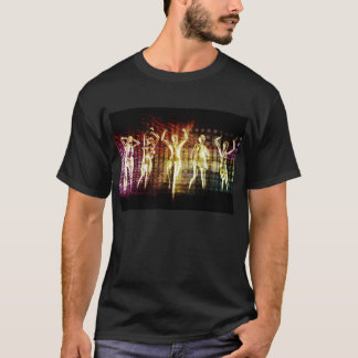 Beach Rave Party with Disco Dancing Girls T-Shirt