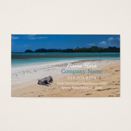 Beach Rental Property, Resort and Spa Business Card