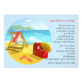 Beach Retirement Party Invitation
