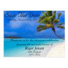 Beach Retirement Save the Date Postcard