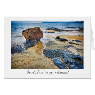 Beach Rock - Good Luck in your Exams Greeting Card