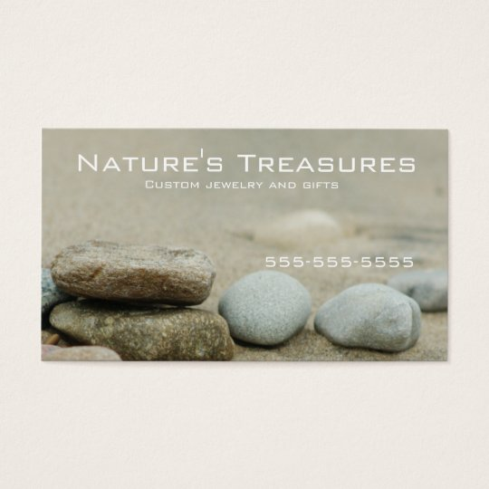 Beach Rocks Lake Michigan Business Card