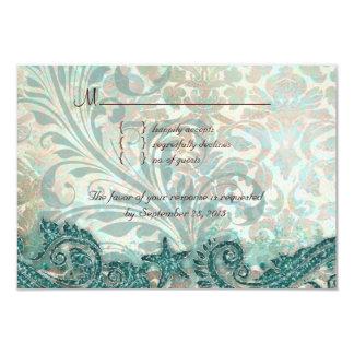 Beach RSVP Wedding Reply Card Dolphins 9 Cm X 13 Cm Invitation Card