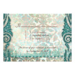Beach RSVP Wedding Reply Card Seahorse Personalised Invite