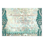 Beach RSVP Wedding Reply Card Seahorse 9 Cm X 13 Cm Invitation Card
