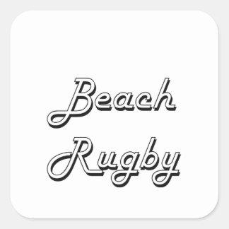 Beach Rugby Classic Retro Design Square Sticker