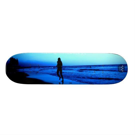 Beach Runner - Blue Beach Scene Skateboard Deck
