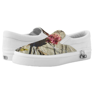 BEACH SAND AND FLOWER SLIP ON SNEAKER SHOES