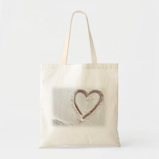 Beach Sand Heart Budget Tote Bag