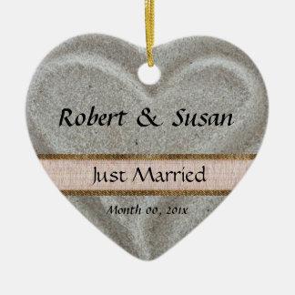 Beach Sand Heart Shaped Wedding Favor Ceramic Heart Decoration