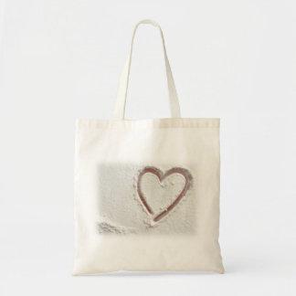 Beach Sand Heart Budget Tote Bag