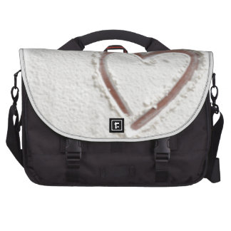 Beach Sand Heart Valentine Bags For Laptop
