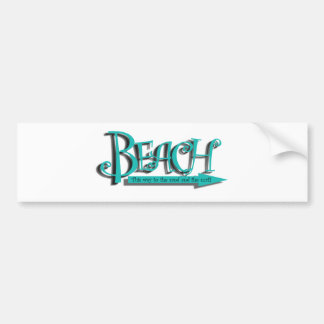 Beach sand-n-surf bumper sticker