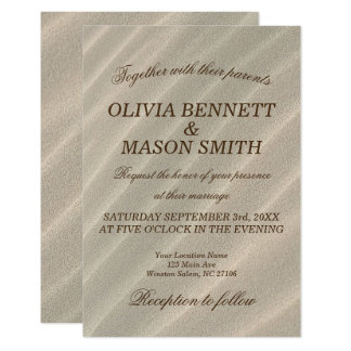 Beach Sand Textured Wedding Invitation