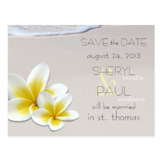 Beach Sand Tropical Wedding Save the Date Postcard