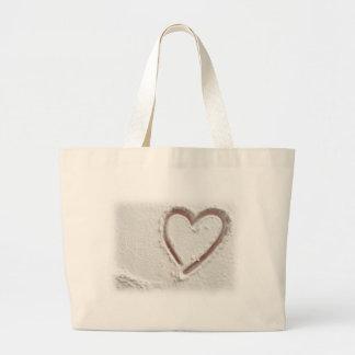 Beach Sand Valentine Heart Tote Bag