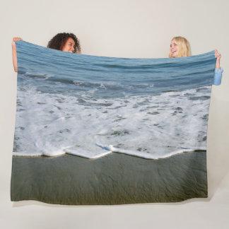 Beach/Sand/Waves Fleece Blanket