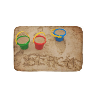 Beach Sand Words Bath Mat