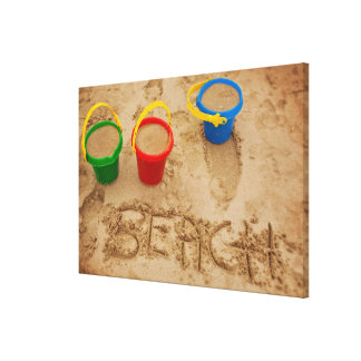 Beach Sand Words Canvas Print