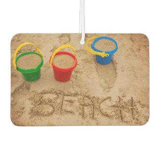 Beach Sand Words Car Air Freshener