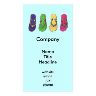 Beach Sandals Business Cards