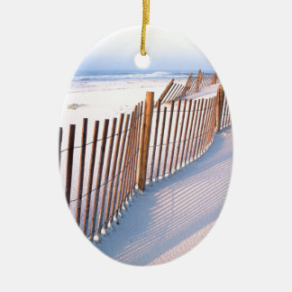 Beach Santa Rosa Island Seashore Christmas Ornament