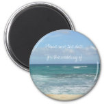 Beach Save the Date Fridge Magnets