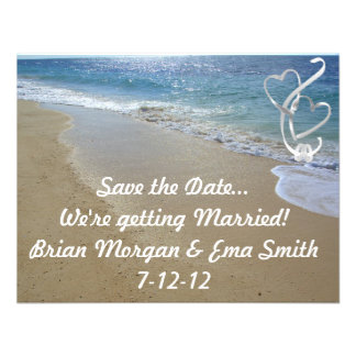 beach save the date personalized invitations