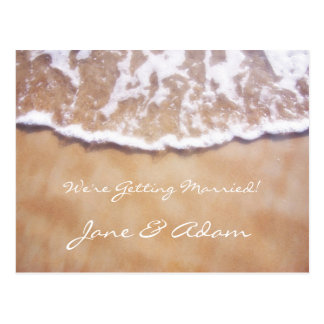 Beach Save the Date Postcard