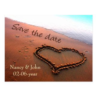 Beach Save the date Postcard