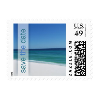 Beach Save The Date Wedding Small Postage