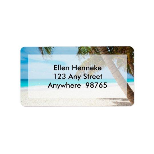 Beach Scene 1 Address Label