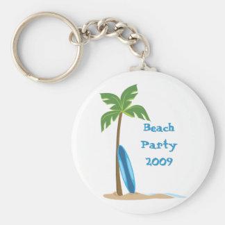 Beach Scene Basic Round Button Key Ring