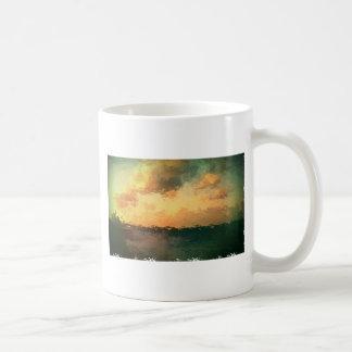 beach scene coffee mug