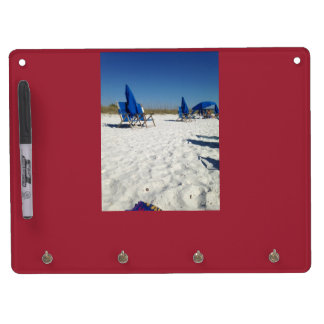 Beach scene dry erase board