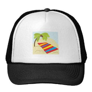 Beach Scene Mesh Hats